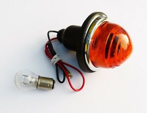 Lucas L594 Amber Flasher / Indicator Lamp with Glass Lens, 2A9013, Mini, Morris