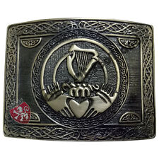 Men's Traditional Claddagh Kilt Belt Buckle Antique/Irish Harp Belt Buckles
