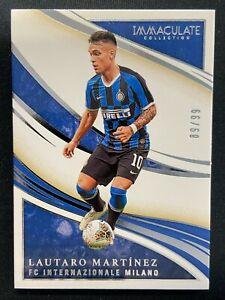 LAUTARO MARTINEZ 2020 PANINI IMMACULATE #58 BASE SILVER SP 89/99 FC INTER MILAN