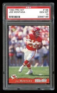 1993 Pro Set - JOE MONTANA - Card #198 - PSA 10 GEM MINT - Kansas City Chiefs!