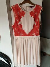 d89c0799fa56c1 Ted Baker fit and flair dress size 3 (12)