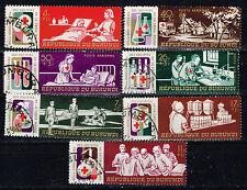 Burundi Red Cross in African Tribal Village stamps set 1969