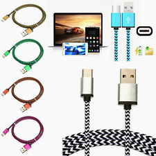 2M Long Quick Braided USB-C 3.1 Type C Sync Fast Data Charge Cable Charging Cord