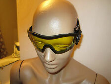 Yellow Motorcycle Skydive Protective Goggles Googles Padded ATV QUAD 4 Wheeler