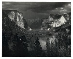 1949 Original ANSEL ADAMS Yosemite Valley Thunderstorm Landscape Photo Art 12X16