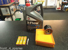FORD FIESTA MK7 SERVICE KIT OIL AIR FILTERS NGK SPARK PLUGS 5 LITRES XFLOW