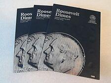 Set of Whitman Roosevelt Dime Folders 1,2 & 3 1946-Starting 2005-- #9029 - #1939