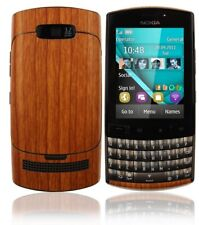 Skinomi Light Wood Full Body Skin+Screen Protector Cover for Nokia Asha 303