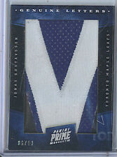 Jonas Gustavsson 2012 Panini Prime Genuine Letters Patch Card /10