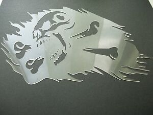 S20a5 SKULL BONES Burning Airbrush Stencil Mask Template Textile Paint Craft