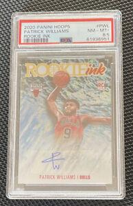 2020-2021 NBA Hoops Patrick Williams Rookie Ink Autograph Foil Holo PSA 8.5