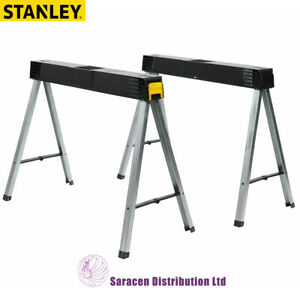 STANLEY FOLD UP SAW HORSE, TWIN PACK - 1-97-475