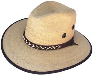 Authentic Sahuayo Region Mexico Palm Moreno Straw Safari Vaquero Cowboy Sun Hat