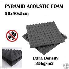 80x Studio Sound Absorption Acoustic Foam Panel Tile Treatment Pyramid 50x50x5cm