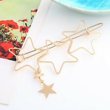 Star Gold Hair Pins Lovely Hollow Five-pointed Star Hairpin Hair Clip