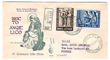 FDC VENETIA  CLUB  1955  -  BEATO ANGELICO   VIAGGIATA