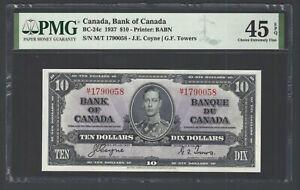 Canada 10 Dollars 1937 BC-24c Very Fine