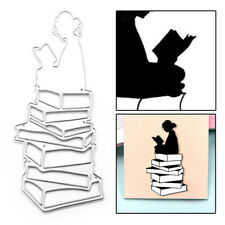 1X Book Girl Metal Cutting Dies Scrapbooking Album Embossing Stencil DIY Craft
