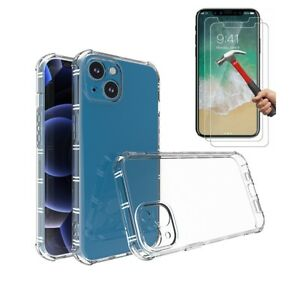 Case 2 Screen Protector iPhone 13 12 11 Pro XS MAX XR SE 6S 7 8 Plus 13 12 Clear
