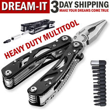 Multi Tool Knife Pliers Saw Kit Folding Screwdriver Bits Outdoor Camping
