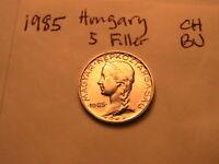 1985 HUNGARY 5 Filler  Coin Very Scarce Choice BU Hungarian Magyar Five Filler