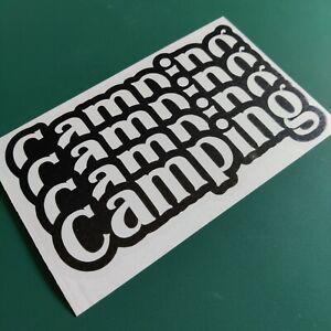 Camping 4 Ways Text - Car/Van/Camper/Bike Decal Sticker