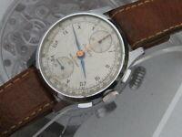 Breitling Vintage WW2 40s era Venus 170 up & down chronograph watch works great