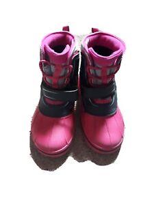 Girls Winter Crocs Boots Size 1
