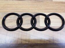 Audi Rear Badge in BLACK 178mm x 57mm
