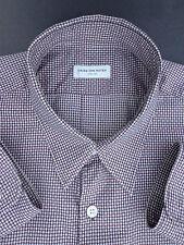 Dries van Noten Burgundy Micro Check Shirt (50)