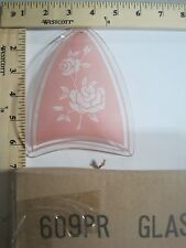 FREE US SHIP ok touch lamp replacement glass Panel White Flower Pink Back 609-PR