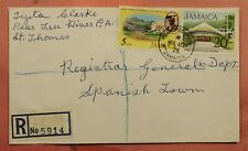 DR WHO 1975 JAMAICA PEAR TREE RIVER REGISTERED 163731