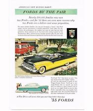 1955 Ford Fairlane Sunliner Convertible Automobile Car art Vtg Print Ad