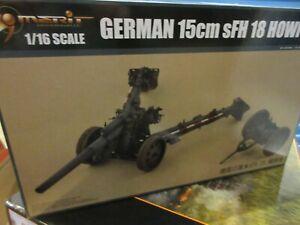 Merit Trumpeter #61603 1/16th Échelle Allemand 15cm Sfh 18 Howitzer