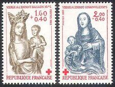 France 1983 Red Cross/Medical/Health/Welfare/Virgin & Child 2v set (n20411)