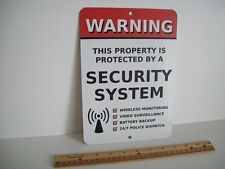 "Home Security Alarm System 7"" x 10""  Metal Yard Sign - Stock # 704"