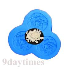 Rose Cameo Silicone Mold For Polymer Clay Fimo Crafts Scrapbooking 30mm A272
