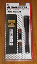 MAGLITE PRO PLUS LED 2 Cell AA Flashlight, Pewter Mag Lite Maglight 245 Lumens