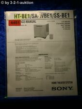Sony Service Manual HT BE1 /SA WBE1 /SS BE1 Home Theater System (#4451)