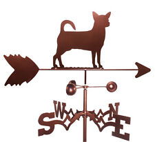 Chihuahua Weathervane With Garden Mounting
