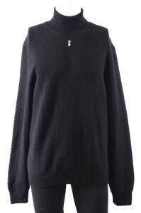 Ermenegildo Zegna black L 52 cashmere knit pullover turtleneck sweater NEW $1749