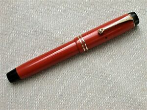VINTAGE PARKER SENIOR DUOFOLD FOUNTAIN PEN IN ORANGE - STREAMLINE MODEL c1929.