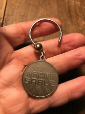 Vintage 1980's Mercury Sable Metal Key Ring Key Fob