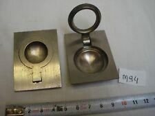 2 poignées onglet en laiton chromé vis cachées anneau bateau (réf M94)