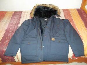 Carhartt Trapper Parka men's jacket large dark navy
