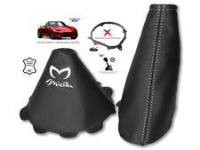 Gear & Handbrake Gaiter For Mazda MX5 Roadster ND 2014-18 White Embroidery