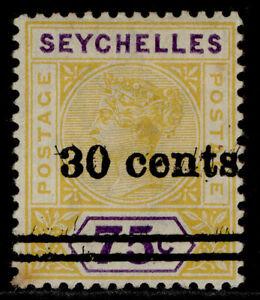 SEYCHELLES EDVII SG42a, 30c on 75c yellow & violet, M MINT.