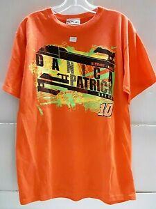 Danica Patrick # 10 Nascar Men's Orange Paint Design Shirt, Size x-large