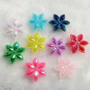 24mm Mixed Acrylic Flower Decoration Crafts Cabochon Scrapbooking Flatback DIY