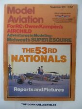 Model Aviation Magazine   November  1979    Super Esquire by Bob Harrah